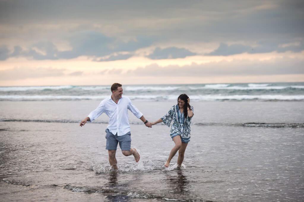 Muriwai Beach Engagement Photo