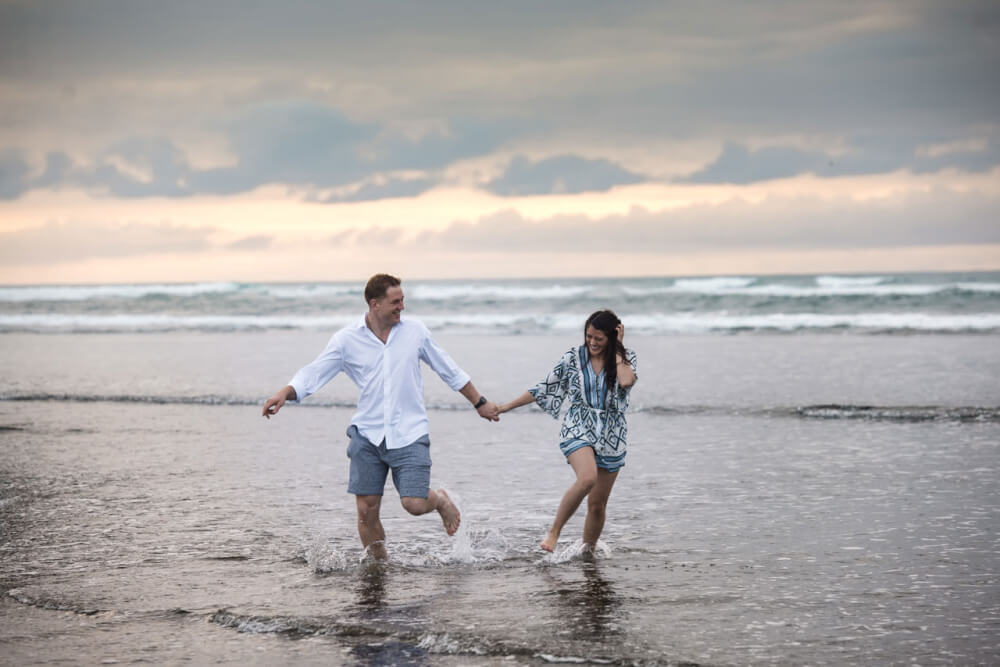 Muriwai Beach Engagement Photo